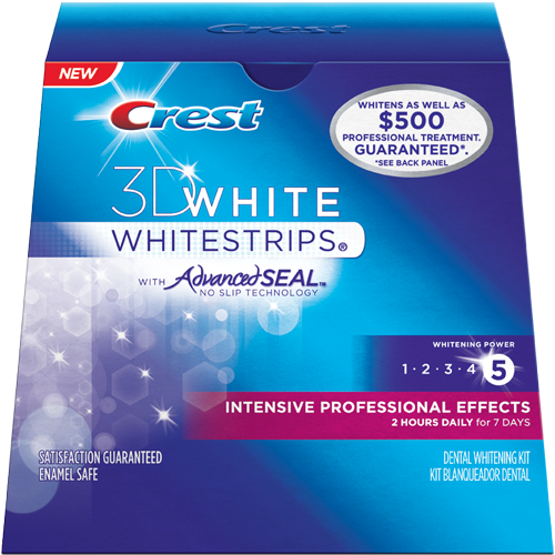 Crest 3d white intensive professional effects whitestrips